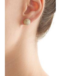 Carolina Bucci | Metallic 18k Gold Sparkly Half-ball Earring | Lyst