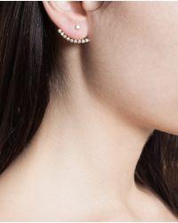 Yvonne Léon - 18k Yellow Gold & Diamond Lobe Earring - Lyst