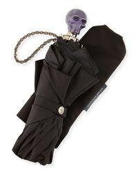 Alexander McQueen - Black Rosin Skull Umbrella - Lyst