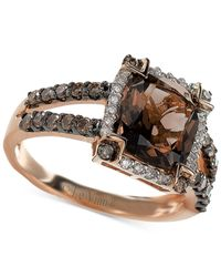 Le Vian - Pink Smoky Quartz (2-5/8 Ct. T.w.) And Diamond (5/8 Ct. T.w.) Ring In 14k Rose Gold - Lyst