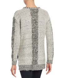 Lord & Taylor | Gray Hi-lo Knit Sweater | Lyst
