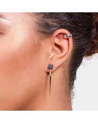 Dutch Basics - Metallic Porcelain Point Earring Black - Lyst