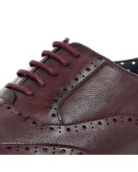 River Island - Dark Red Leather Smart Lace-up Formal Shoes for Men - Lyst