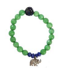 CB Bronfman | Green Elephant Charm Bead Bracelet | Lyst
