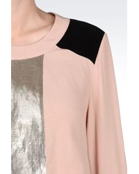 Armani Jeans - Pink Blouse In Viscose Crêpe - Lyst