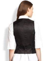 Rag & Bone - Black Snl Chamber Wool Vest - Lyst