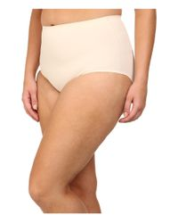 Yummie By Heather Thomson | Natural Plus Size Marjorie Mid Waist Brief | Lyst
