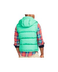Polo Ralph Lauren | Green Elmwood Down Vest | Lyst