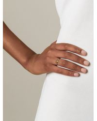 Bjorg - Metallic 'T Alphabet Ring' - Lyst