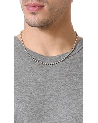 Giles & Brother   Metallic Ball Chain Necklace for Men   Lyst