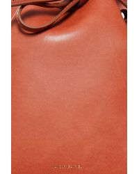 Mansur Gavriel - Red Small Leather Bucket Bag - Lyst
