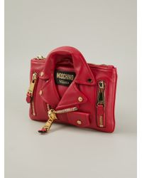 Moschino | Red Biker Clutch | Lyst