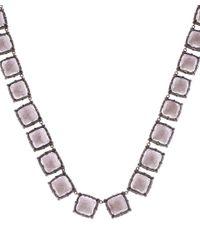 Larkspur & Hawk - Pink Silver Quartz Bella Riviere Necklace - Lyst