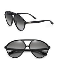 Valentino | Black Thin Glam Mask 60mm Aviator Sunglasses | Lyst