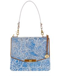 Brahmin | Blue Ophelia Floral Leather Shoulder Bag | Lyst