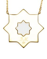 Leivan Kash | Metallic 'yas' Enamel Necklace | Lyst