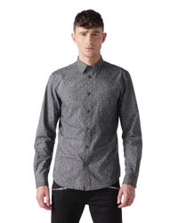 DIESEL | Gray New-sonora-e Denim Shirt Western Light for Men | Lyst