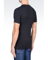 Armani Jeans - Blue T-shirt In Stretch Cotton for Men - Lyst