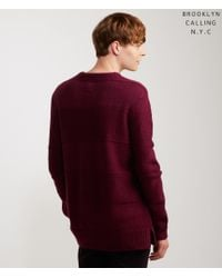Brooklyn Calling | Purple Tonal Stripe Sweater | Lyst