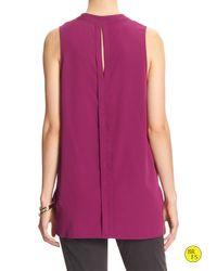 Banana Republic | Purple Factory Sleeveless Popover Top | Lyst