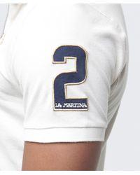 La Martina | White Courchevel Logo Polo Shirt for Men | Lyst