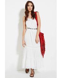 Forever 21 - White Raga Crochet-paneled Maxi Dress - Lyst