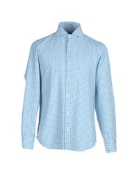 Drumohr - Blue Shirt for Men - Lyst