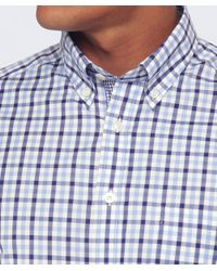 Hackett   Blue Slim Fit Gingham Oxford Shirt for Men   Lyst