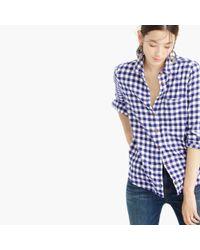 J.Crew | Blue Tall Boy Shirt In Flannel Check | Lyst