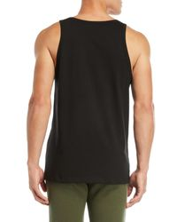 MSGM - Black Logo Tank Top for Men - Lyst
