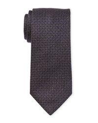 Altea - Blue Basketweave Silk Tie for Men - Lyst