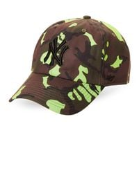 c71bf04bc4f5a Lyst - 47 Brand New York Yankees Neon Camo Cleanup Cap in Green for Men