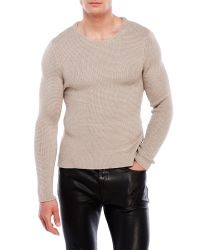 The Kooples - Natural Mercerized Cotton Mix Sweater for Men - Lyst