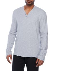 James Perse - Blue Refined Jersey Henley for Men - Lyst