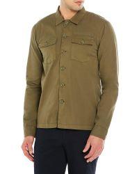 The Kooples   Green Olive Two-Pocket Shirt for Men   Lyst