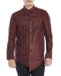 Incarnation | Purple Leather Shirt for Men | Lyst