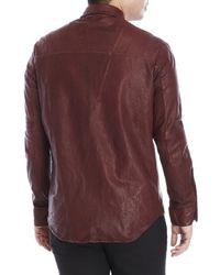 Incarnation - Purple Leather Shirt for Men - Lyst