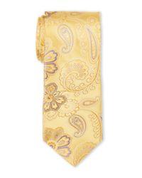 Ike Behar - Yellow Dot Pattern Tie for Men - Lyst