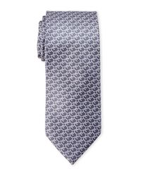 Brioni - Gray Geo Houndstooth Tie for Men - Lyst