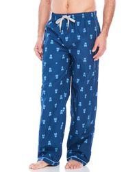 Psycho Bunny | Blue Contrast Print Pajama Pants for Men | Lyst