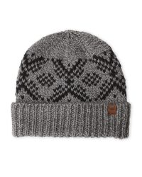 Timberland | Gray Fairisle Knit Fitted Beanie for Men | Lyst