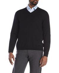 Premise Studio - Black V-Neck Wool Sweater for Men - Lyst