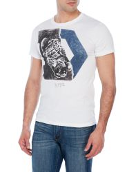 DIESEL | White T-Migues Graphic T-Shirt for Men | Lyst