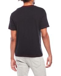 True Religion - Black Logo Embroidered Henley for Men - Lyst