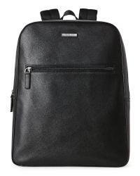 Michael Kors   Black Faux Leather Modern Backpack for Men   Lyst