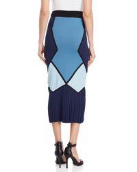 Tabula Rasa - Blue Toque Geometric Midi Skirt - Lyst