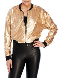 Bench | Black Rather Be Cropped Bomber Jacket | Lyst