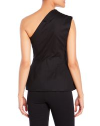 Jean Paul Gaultier - Black One-Shoulder Peplum Vest - Lyst