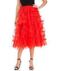 682c7f939d Lyst - Sachin & Babi Abelia A-Line Skirt in Red