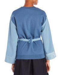 Alexis Mabille - Blue Long Sleeve Kimono Sweatshirt - Lyst